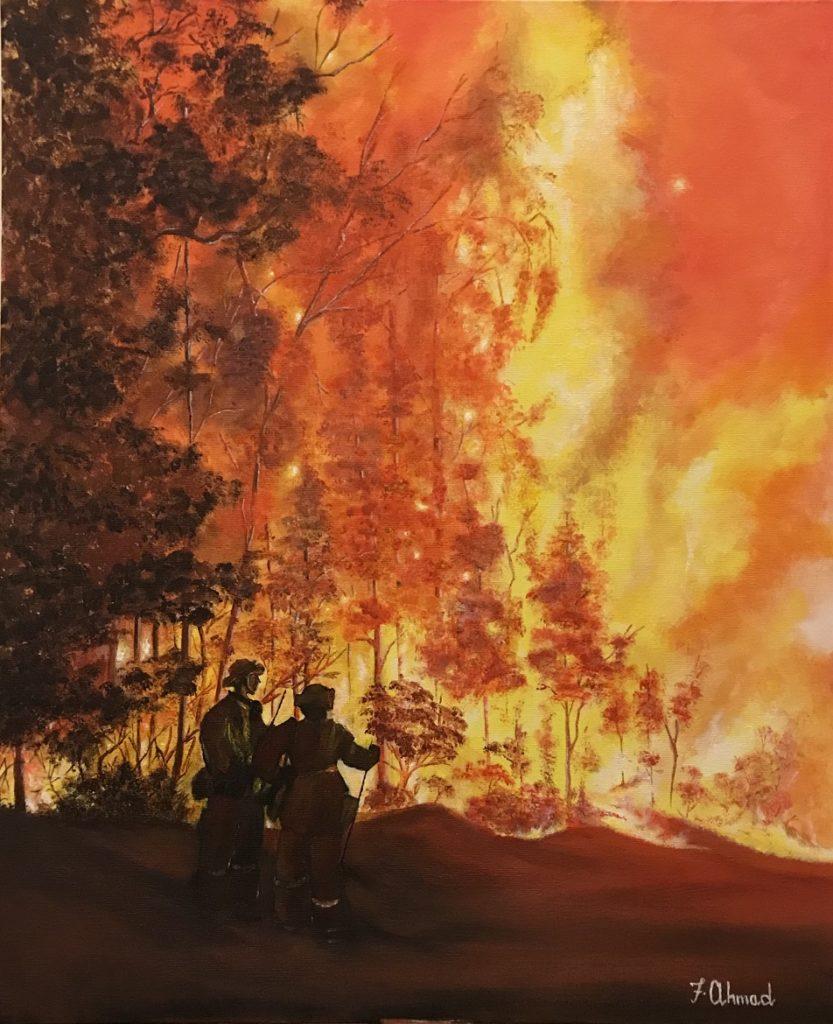 Painting 12-Sydney Burning 2020-Farzana Ahmad