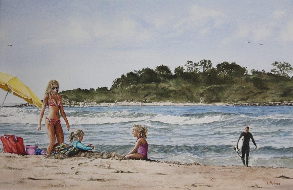 Painting 19-Family Fun, Lake Conjola-Ian Holmes