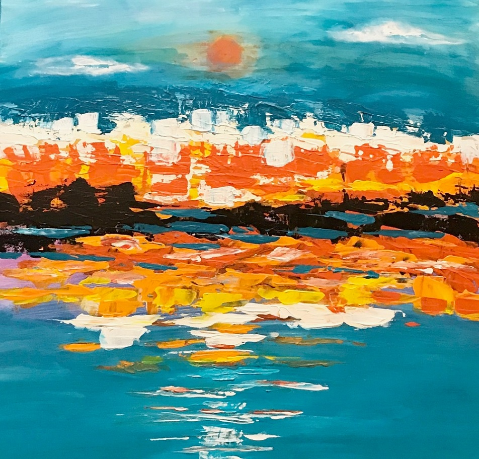 Painting 23-Kimberley Sunset-Coral Dreggs