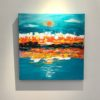 Painting 23a-Kimberley Sunset-Coral Dreggs