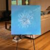 Painting 24a-Powder Blue Magic-Coral Dreggs