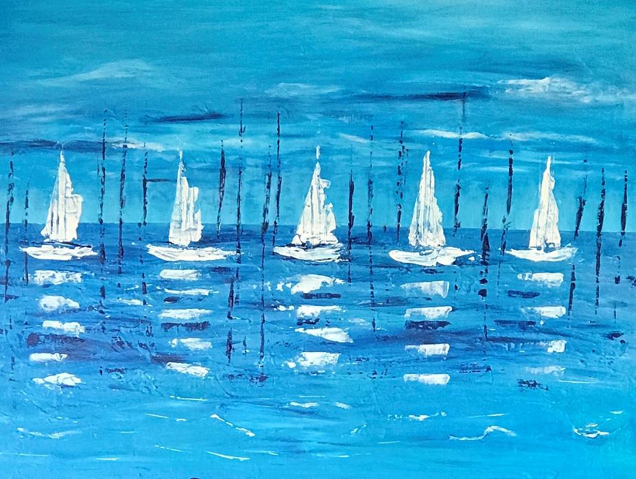 Painting 25-White Sails-Coral Dreggs