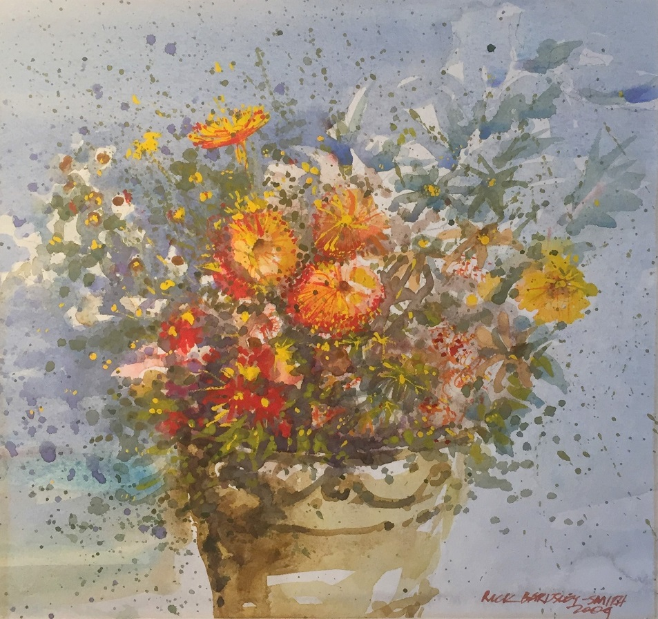 Painting 28-Red and Yellow Flowers-Richard Bardsley-Smith