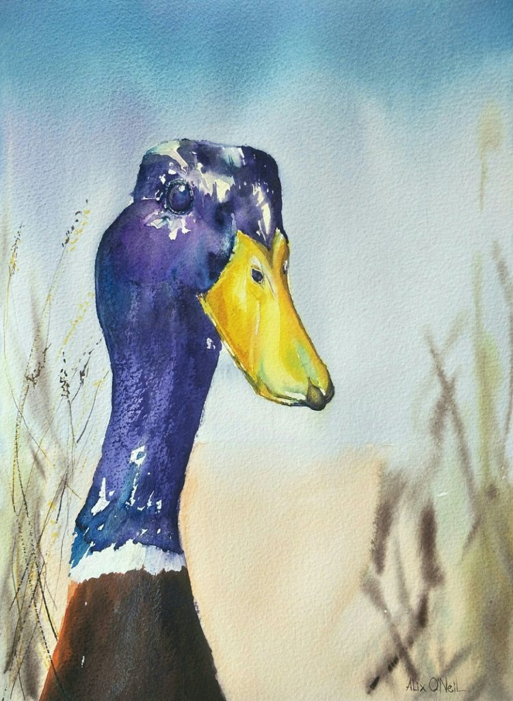 Painting 35-Just Ducking in-Alix O'Neil