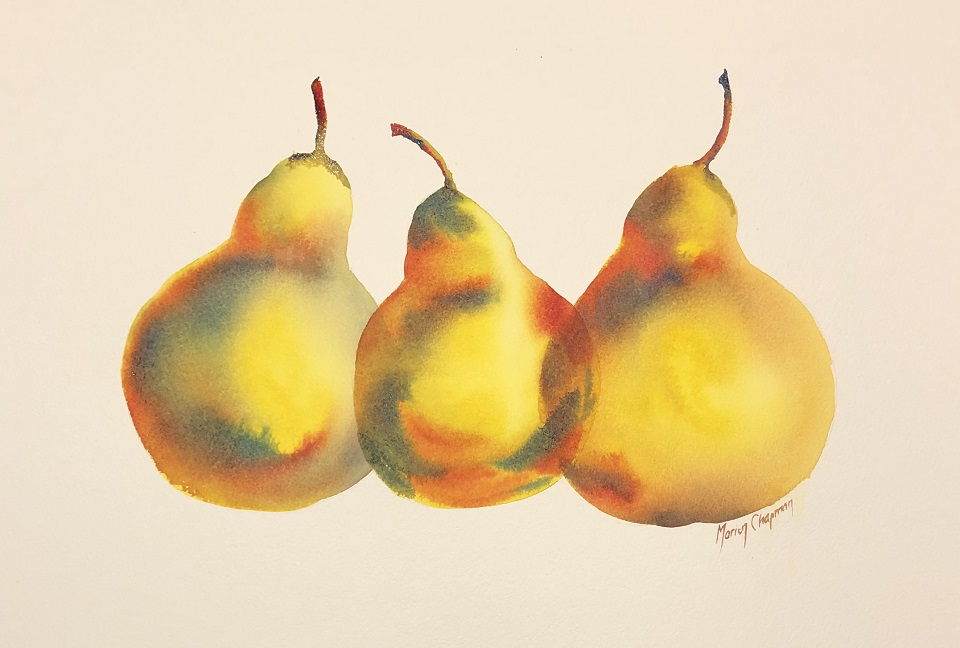 Painting 38-Three Pears-Marion Chapman