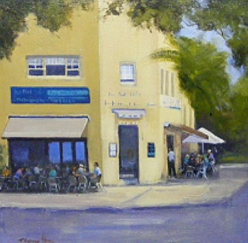 Painting 40-The Pool Café-Trish Bennett