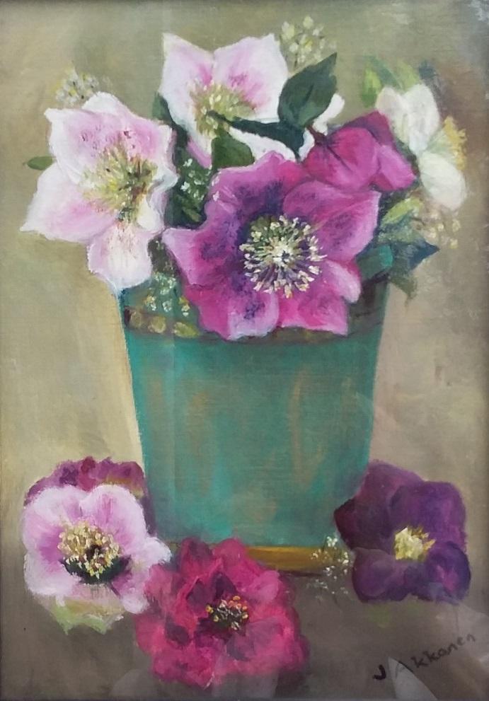 Painting 41-Hellebores-Jeanette Akkanen