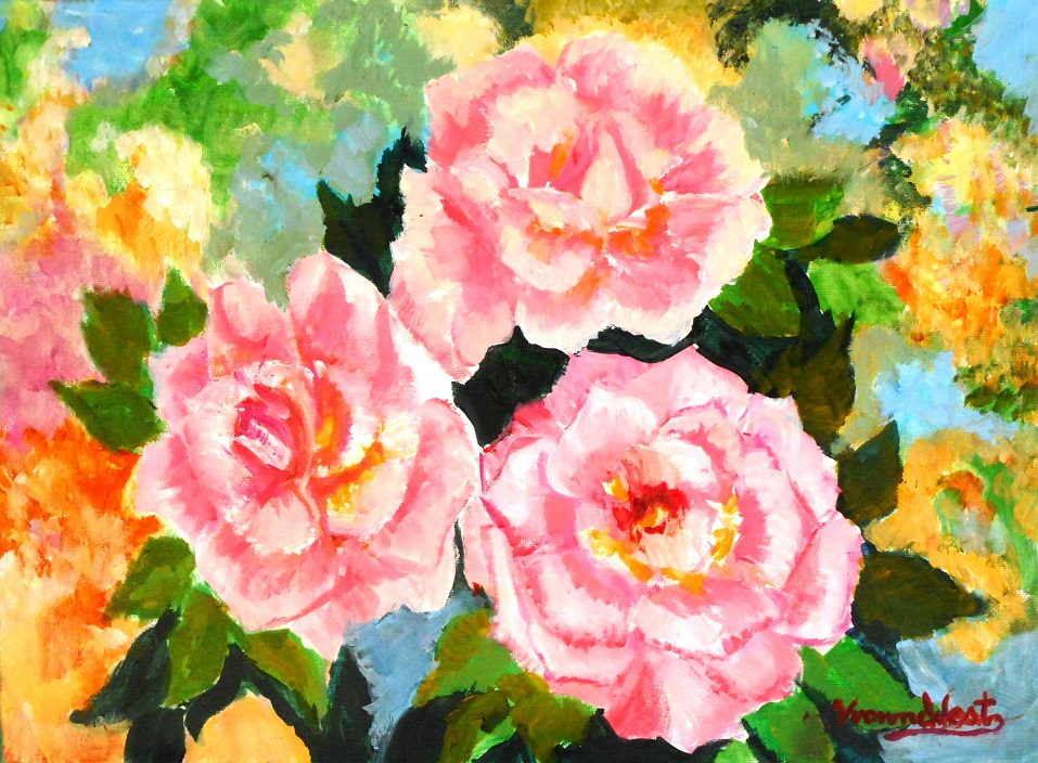 Painting 42-Champion Roses-Yvonne West