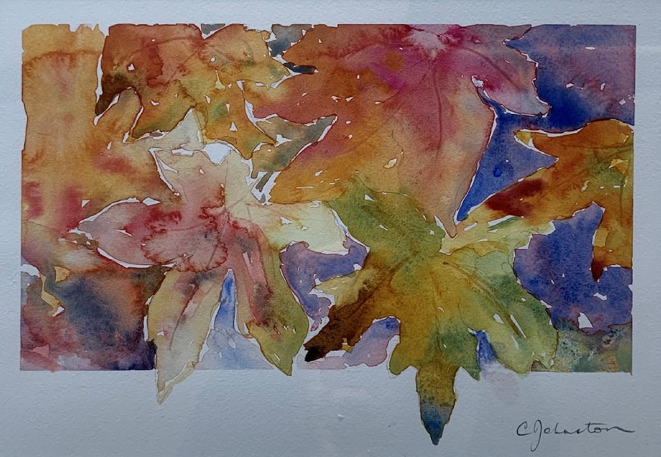 Painting 52-Autumn leaves-Christine Johnston