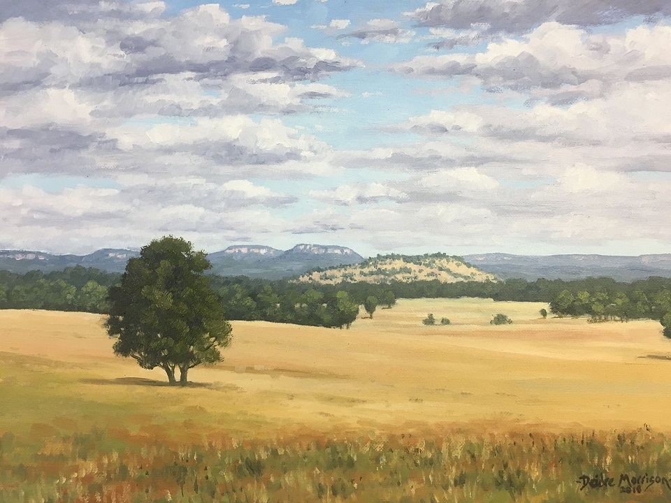 Painting 61-Golden Fields, Capertee Valley-Deidre Morrison