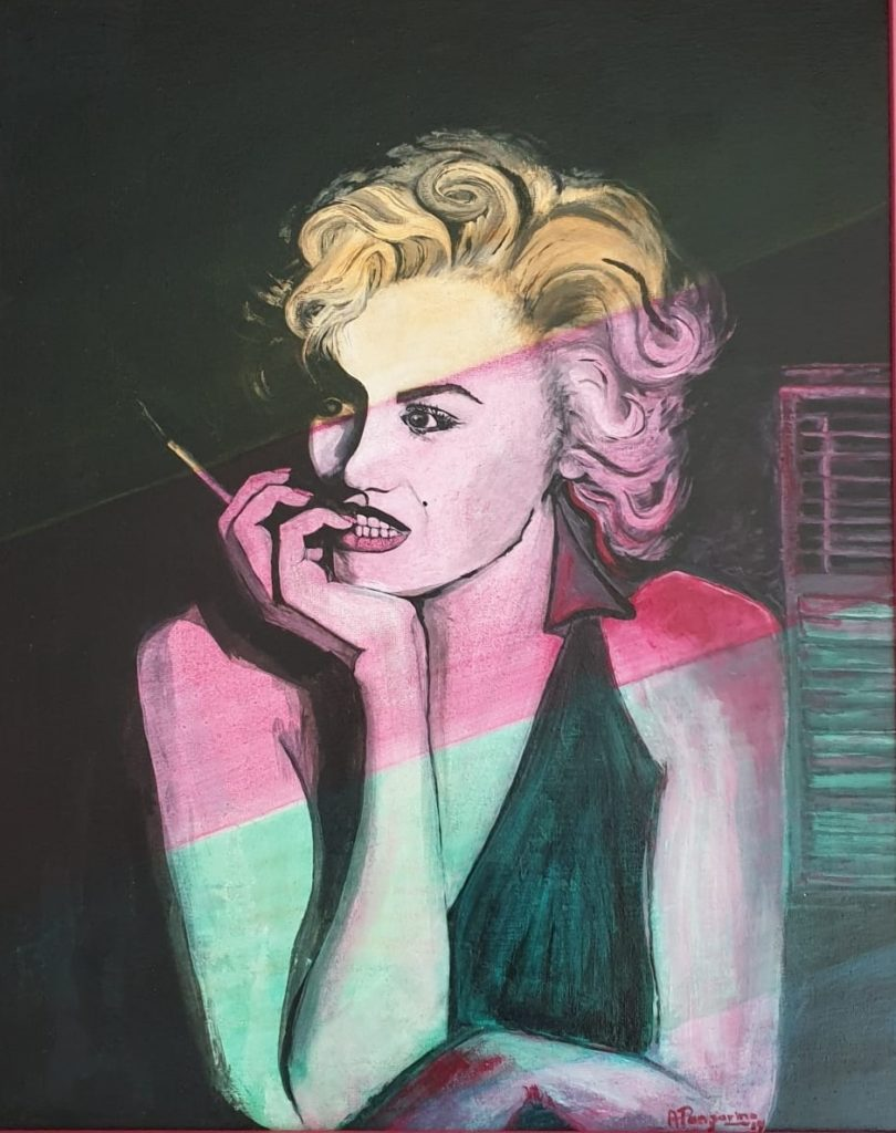 Painting 67-Marilyn in colour-Angela Panzarino