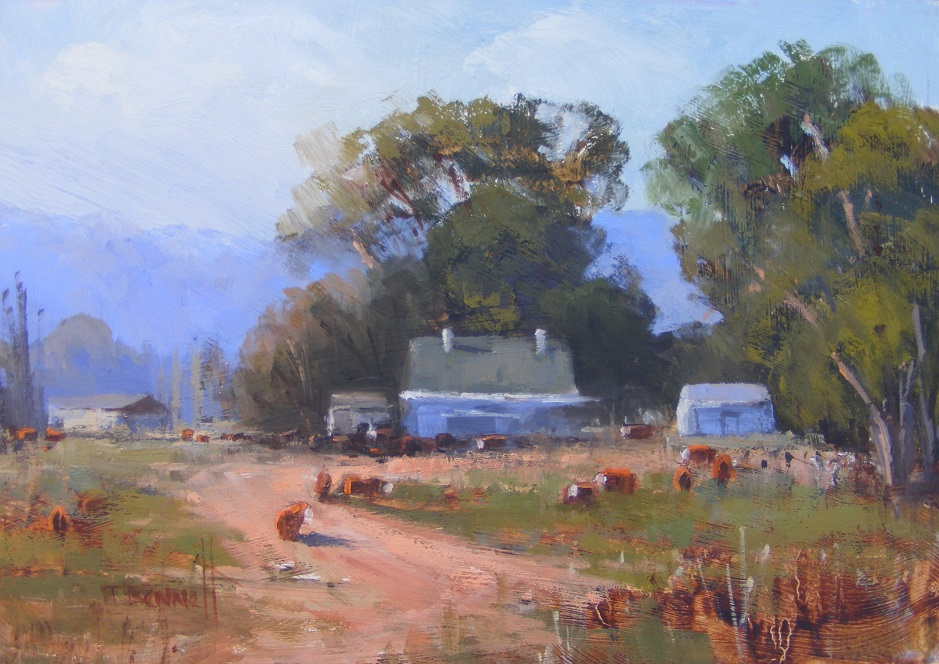 Painting 69-The Edge of Town-Trish Bennett