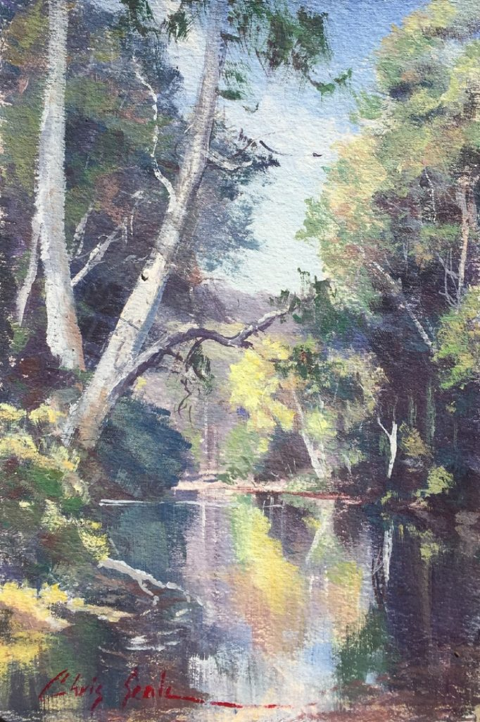 Painting 74-Reflections (Study)-Chris Seale