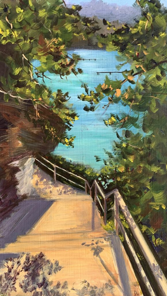 Painting 78-Steps to Clifton Garden-Shelly Du Hui