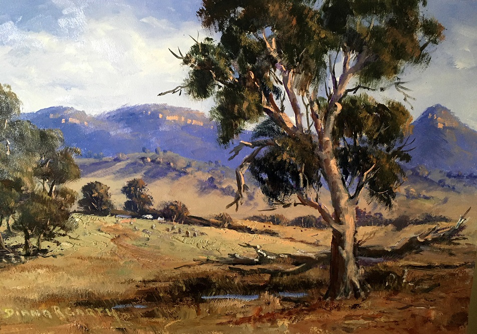 Painting 83-A Rural Country Scene in the Capertee Valley-Diana Garth
