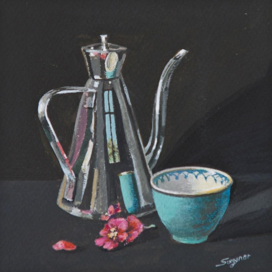 Painting 100-Pink Begonia-Freda Surgenor