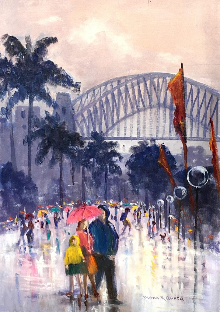 Painting 102-Wet Day at Circular Quay-Diana Garth