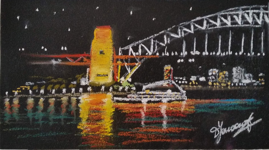 Painting 104-Harbour Lights-Diane Yousouf