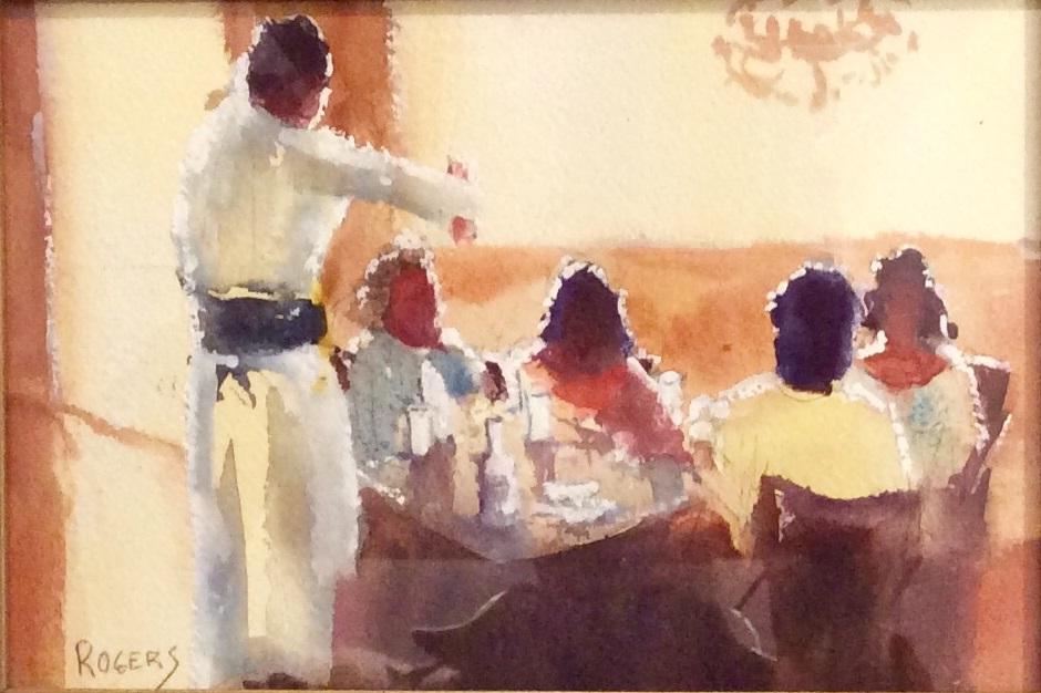 Painting 105-Paddington Café-Michael Rogers