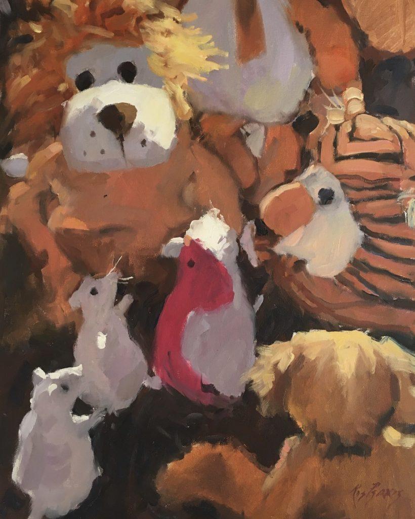 Painting 109-Teddy Bears Meeting-Ros Psakis