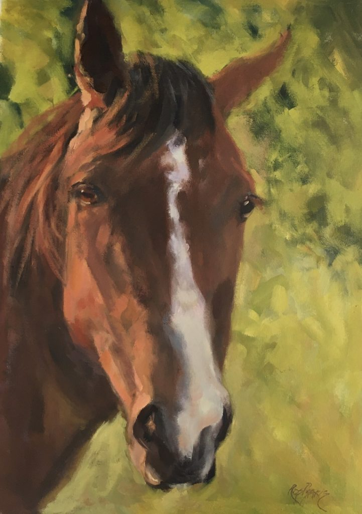 Painting 110-Hello Horse-Ros Psakis