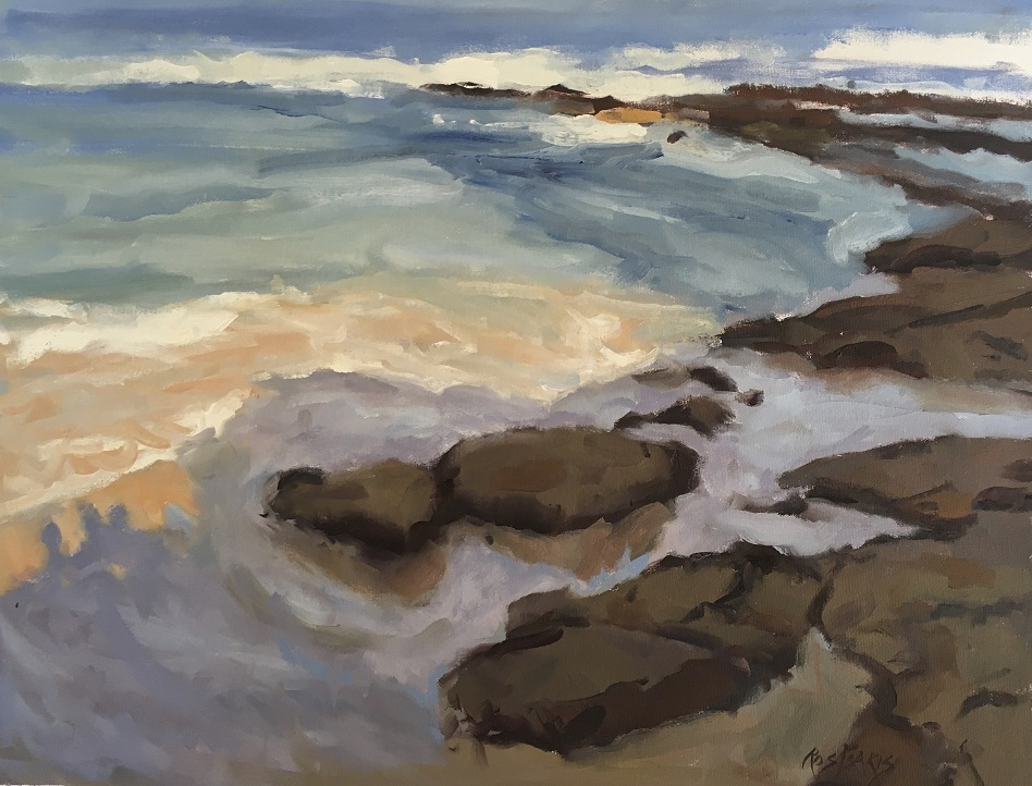 Painting 112-Cronulla Shadows-Ros Psakis