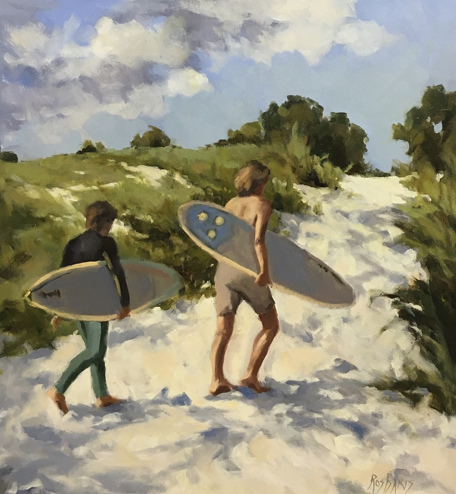 Painting 114-The Track to the Surf-Ros Psakis