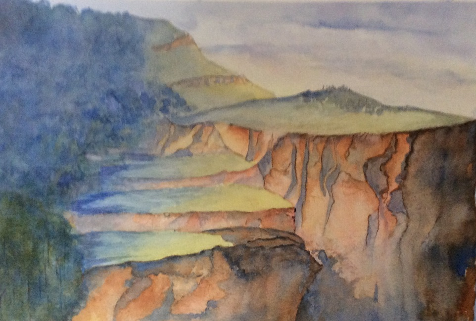 Painting 115-Mt Banks, Blue Mountains-Rosalie Neef