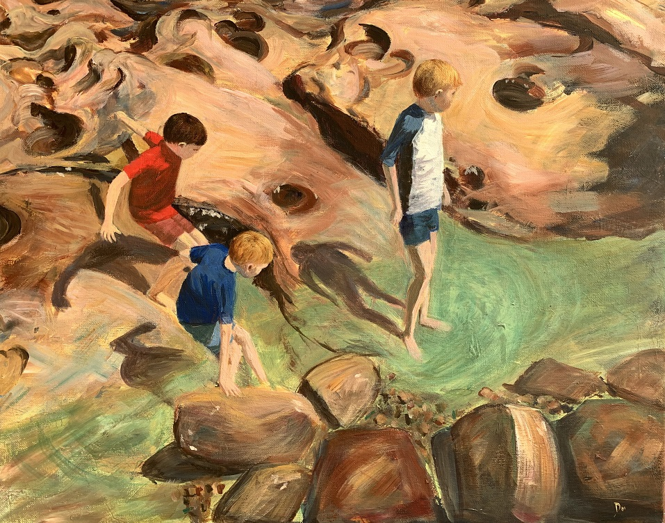 Painting 120-Rock Pool-Shelly Du Hui