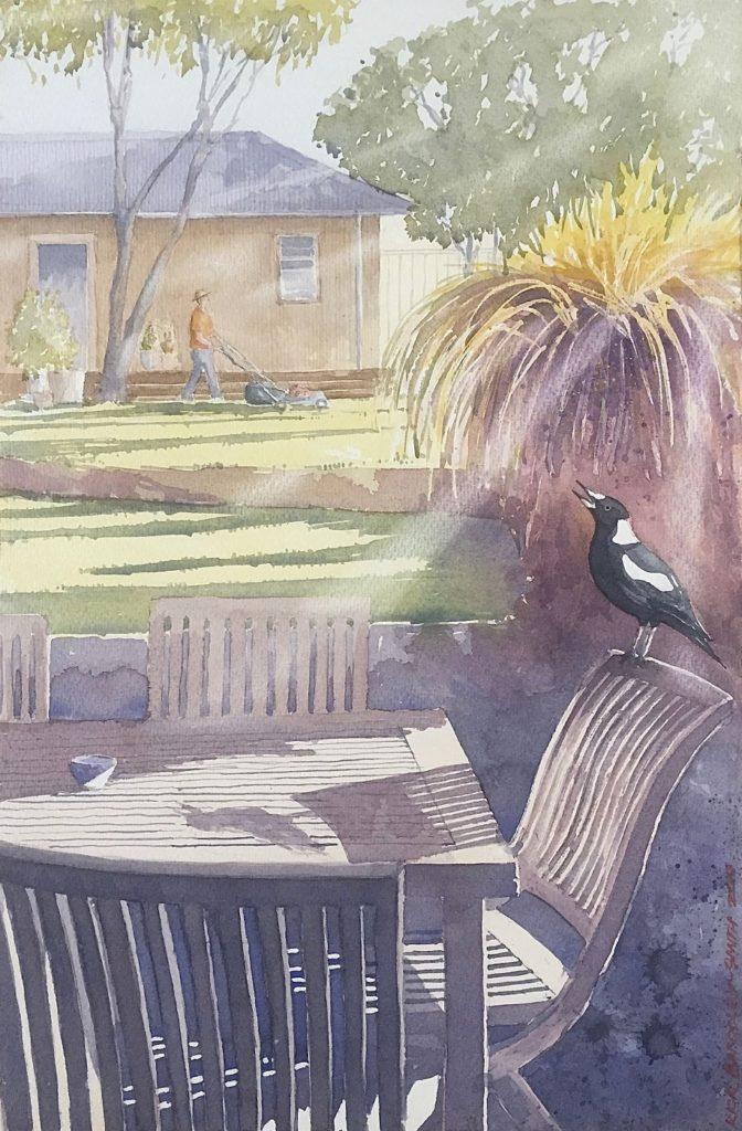 Painting 124-Morning Warble-Richard Bardsley-Smith
