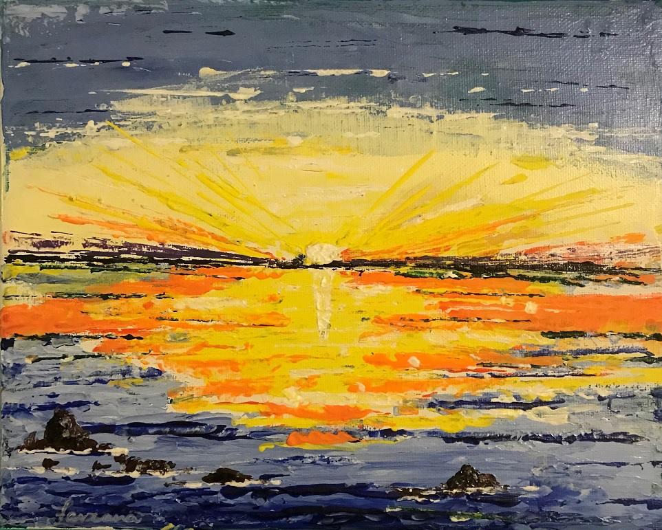 Painting 125-Sunset-Farzana Ahmad