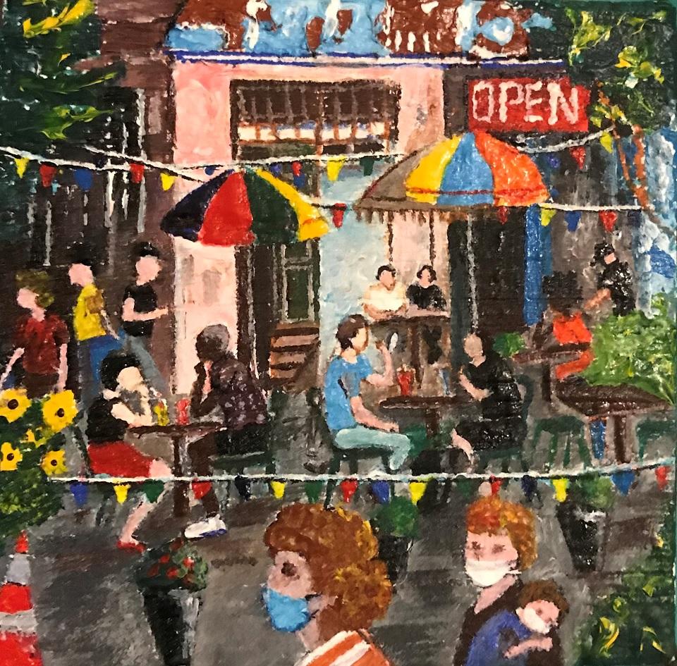 Painting 126-Emerging from COVID19-Farzana Ahmad