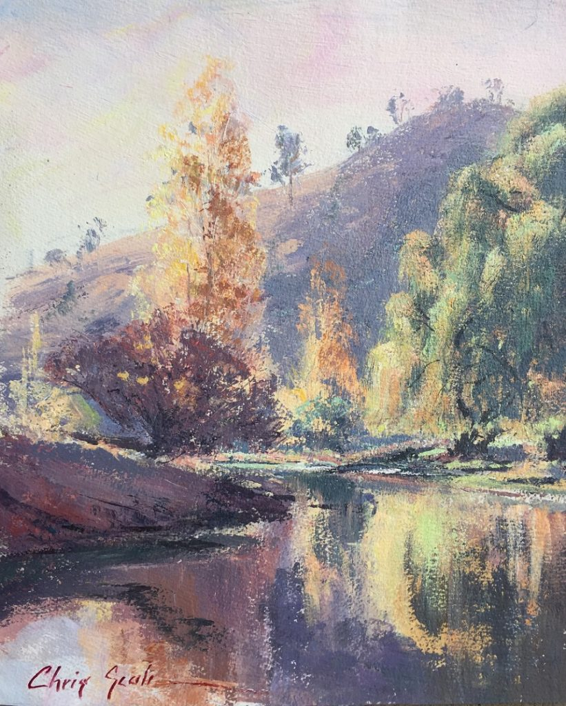 Painting 128-Autumn Reflections-Chris Seale