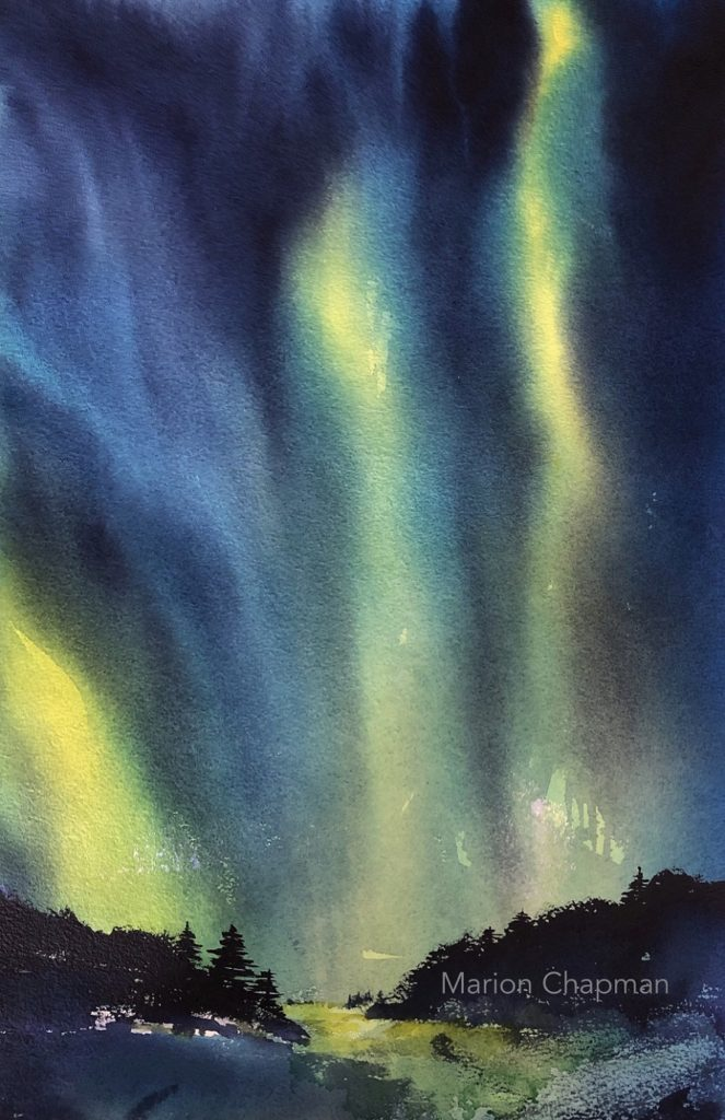 Painting 95-Northern Lights-Marion Chapman