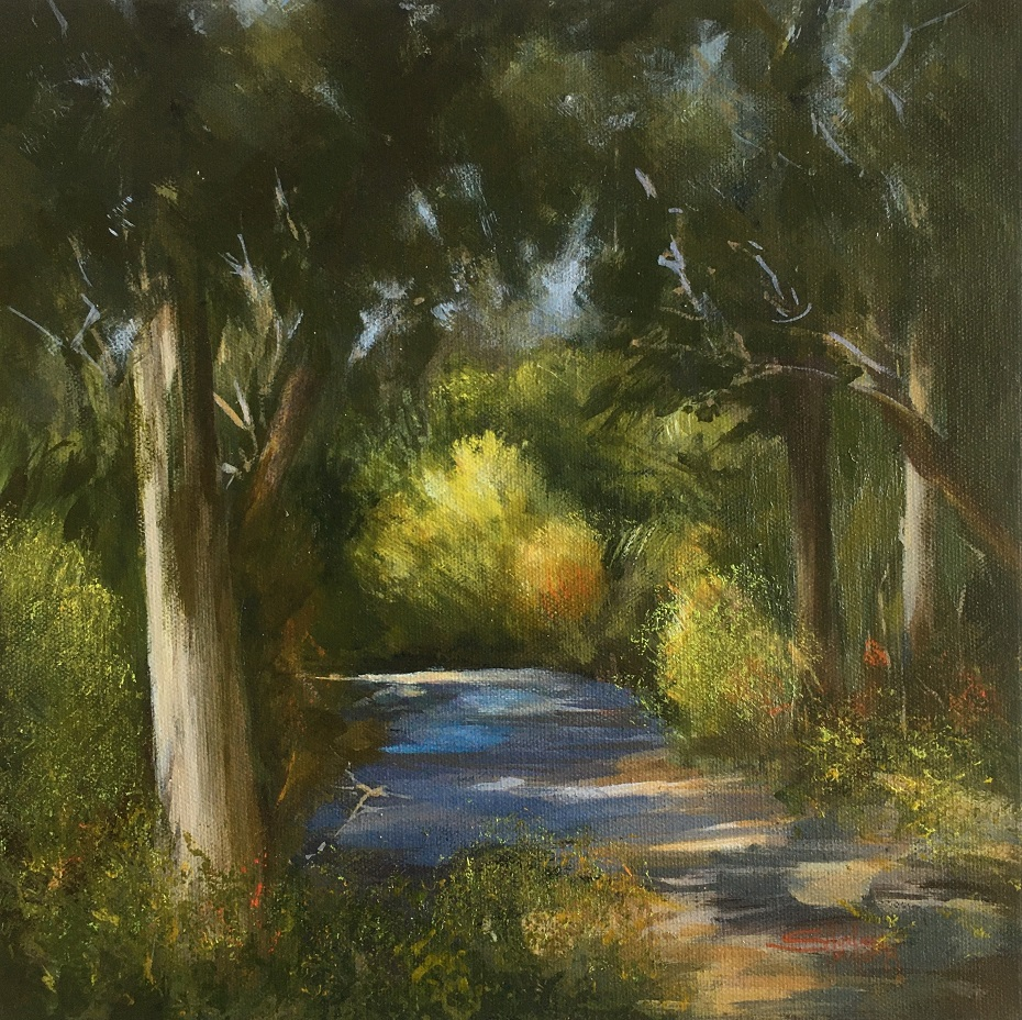 Painting 96-From the Verandah-Shirley Hagarty